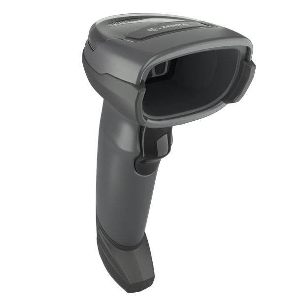 Zebra DS4608 Black Standard Range 1D/2D Handheld Corded Barcode Scanner Kit – Scanner, Shielded USB Cable & Stand Included