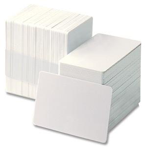 ZEBRA CARDS PVC 15MIL PLAIN 500/BOX WHI